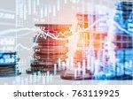 stock market or forex trading... | Shutterstock . vector #763119925