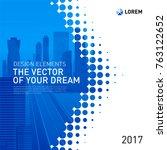 design element for corporate... | Shutterstock .eps vector #763122652