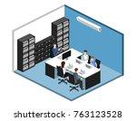 isometric 3d illustration set... | Shutterstock .eps vector #763123528