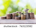 financial planning  money... | Shutterstock . vector #763123582