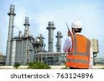 engineering is  gas turbine... | Shutterstock . vector #763124896