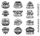 a template of classic or... | Shutterstock .eps vector #763126822
