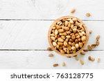 Roasted Peanuts Are Placed On ...
