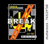 typography urban vintage  men t ... | Shutterstock .eps vector #763129768