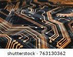 3d rendering. circuit board... | Shutterstock . vector #763130362