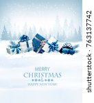 christmas holiday background... | Shutterstock .eps vector #763137742