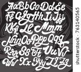 vector handwritten calligraphic ... | Shutterstock .eps vector #763140565