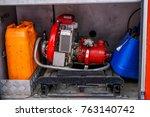 firemen water pump | Shutterstock . vector #763140742