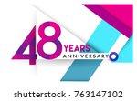 48th years anniversary logo ... | Shutterstock .eps vector #763147102