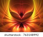 abstract fractal background 3d... | Shutterstock . vector #763148992