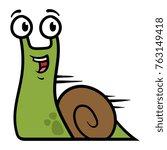 cartoon fast snail character | Shutterstock .eps vector #763149418