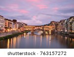 Ponte Vecchio At Sunset From...