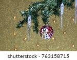 festive new year's sparkling... | Shutterstock . vector #763158715