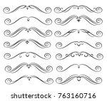 set of decorative elements.... | Shutterstock .eps vector #763160716