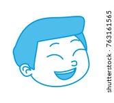 cute boy cartoon | Shutterstock .eps vector #763161565