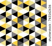 memphis trendy seamless pattern ... | Shutterstock .eps vector #763162636