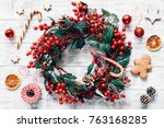 Christmas Winter Wreath  Candy...