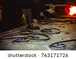 forged products are on the... | Shutterstock . vector #763171726