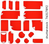 new realistic red stickers with ... | Shutterstock . vector #76317892