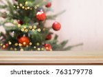 christmas xmas  tree with... | Shutterstock . vector #763179778
