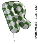 Letter R Balloon 3d Illustration