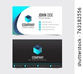 modern business card vector... | Shutterstock .eps vector #763182556
