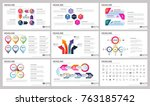 modern elements of infographics ... | Shutterstock .eps vector #763185742