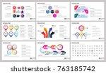 modern elements of infographics ... | Shutterstock .eps vector #763185742