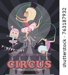Circus Illustration Poster With ...