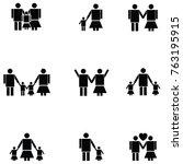 family icon set | Shutterstock .eps vector #763195915