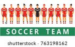 vector illustration team of... | Shutterstock .eps vector #763198162