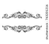 classical baroque vector of... | Shutterstock .eps vector #763201216