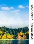 na pali coast  kauai  hawaii... | Shutterstock . vector #763202926