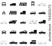 car icon set | Shutterstock .eps vector #763203172