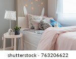 kid's bedroom with colorful... | Shutterstock . vector #763206622