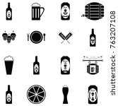 beer icon set | Shutterstock .eps vector #763207108
