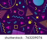 abstract geometric pattern with ... | Shutterstock .eps vector #763209076