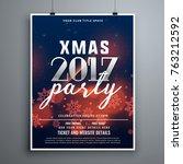 christmas party invitation... | Shutterstock .eps vector #763212592