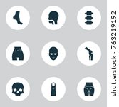 part icons set with head  knee  ... | Shutterstock .eps vector #763219192