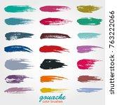 vector brushstrokes. soft... | Shutterstock .eps vector #763222066