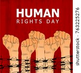 human rights day  human rights... | Shutterstock .eps vector #763225276