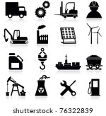 industry icons | Shutterstock .eps vector #76322839