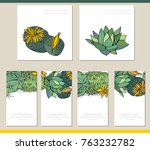 collection of visit cards ... | Shutterstock .eps vector #763232782