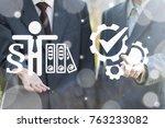 compliancy business teamwork... | Shutterstock . vector #763233082