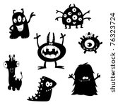 Cartoon Funny Monsters...