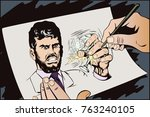 stock illustration. people in... | Shutterstock . vector #763240105