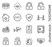 thin line icon set   server ... | Shutterstock .eps vector #763240348