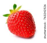 strawberry on white background. | Shutterstock . vector #763242526