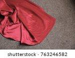 a wine red wedding dress skirt... | Shutterstock . vector #763246582