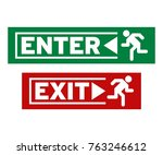 enter and exit symbol | Shutterstock .eps vector #763246612